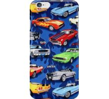 Auto Sports Muscle Cars Pattern iPhone Case/Skin