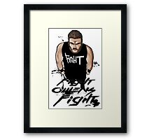 Fight Owens Fight fanart Framed Print