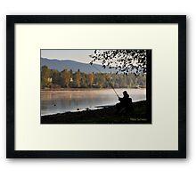Fishing at dawn Framed Print