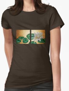 Water Lily on Gold background diptych T-Shirt