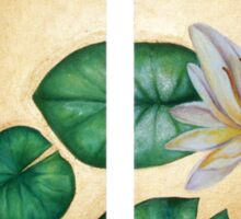Water Lily on Gold background diptych Sticker