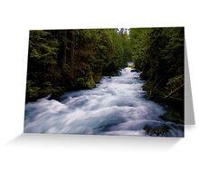McKenzie River below Sahalie Falls Greeting Card
