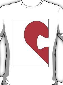 Half a jigsaw puzzle of a heart T-Shirt