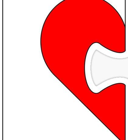 Half a jigsaw puzzle of a heart Sticker