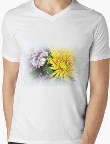 Floral Refreshment Mens V-Neck T-Shirt