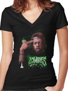 Meechy Darko Flatbush Zombies Women's Fitted V-Neck T-Shirt