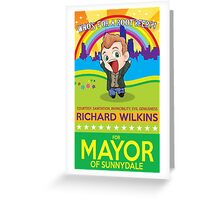 Richard Wilkins for Mayor Greeting Card