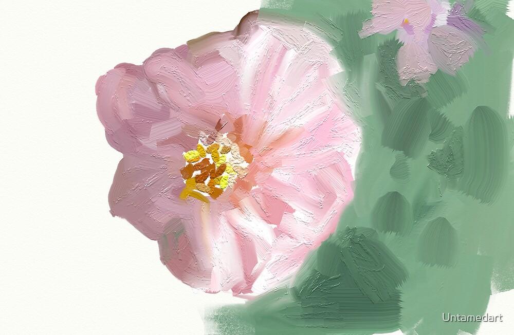 Painted flower by Untamedart