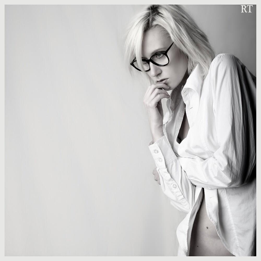 Iveta in white shirt by Rebecca Tun