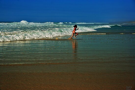 outrunning the waves by Rebecca Tun