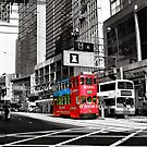 Red Tram - Hong Kong by Simon Le