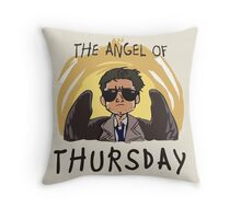 Angel of Thursday Throw Pillow