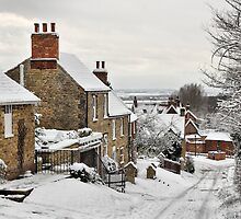 Snowscene, Brantingham village, East Yorkshire UK by Nick Barker