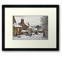 Snowscene, Brantingham village, East Yorkshire UK Framed Print