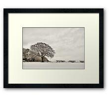 Snowy landscape, Elloughton, East Yorkshire, UK. Framed Print