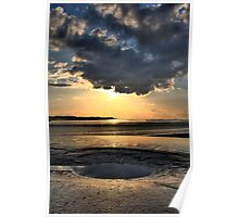 Dramatic skies over the mudflats Poster