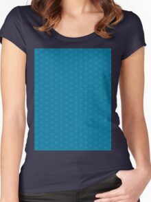 Flower of life seamless pattern Women's Fitted Scoop T-Shirt
