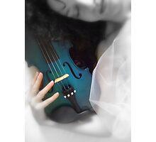 la donna con il violino blu © 2010 patricia vannucci Photographic Print