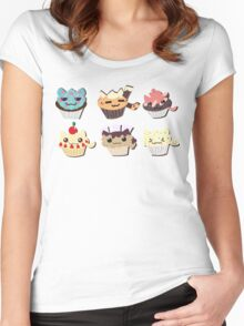 cupcakes cats group! - FOOD CATS Women's Fitted Scoop T-Shirt