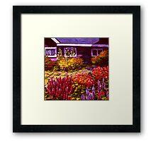 Purple House & Garden Framed Print