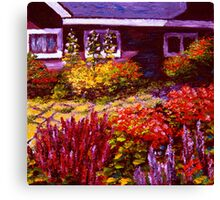 Purple House & Garden Canvas Print