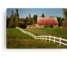 Farm in Langley Canvas Print