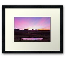 The Pink Pond - Gloucester NSW Australia Framed Print