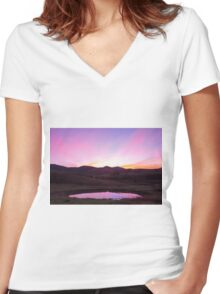 The Pink Pond - Gloucester NSW Australia Women's Fitted V-Neck T-Shirt