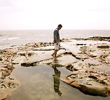 Avoca Rockpools Reflection by solwalkling