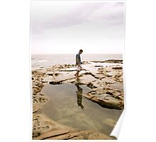 Avoca Rockpools Reflection Poster