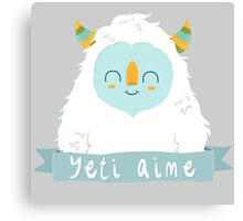 French Yeti Canvas Print