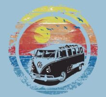 VW Kombi Sunset Design One Piece - Short Sleeve