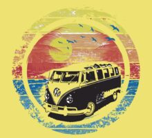 VW Kombi Sunset Design Kids Tee