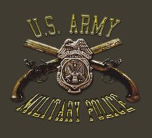 Military Police Crossed Pistols by Larry Oates