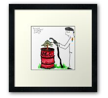 from trees came cancer!! mixlockjaw the wheel bust! Framed Print