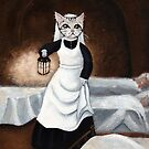 The (Cat) Lady With the Lamp by Ryan Conners