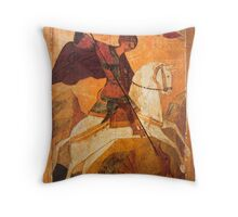 Old Russian icon of St.George Throw Pillow