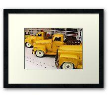toy trucks Framed Print