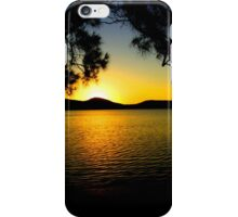 Sunset at the oasis iPhone Case/Skin