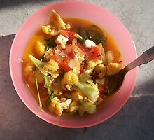 Cauliflower, Tomato, Paneer, Onion, and Spinach by Angie Spicer