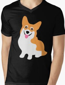 Pembroke Welsh Corgi Mens V-Neck T-Shirt