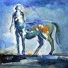 Blue Centaur by Michele Meister