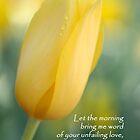 With Love - Psalm 143:8 by Lorraine Deroon