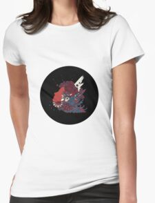 A girl with feathers in her hair Womens Fitted T-Shirt