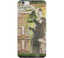 Popular Science: Marie Curie (distressed) iPhone Case/Skin