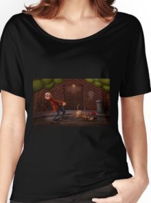 Man with dog Women's Relaxed Fit T-Shirt