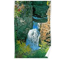 Waterfall Blue Ridge Parkway Poster