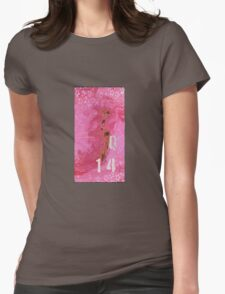 Trashed, scratched, rusted and dented - Q 14 Pink Womens Fitted T-Shirt