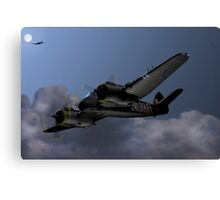 Cats Eyes, (Bristol Beaufighter nightfighter) Canvas Print