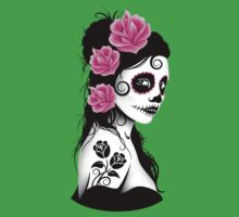 Purple Day of the Dead Sugar Skull Girl Kids Clothes